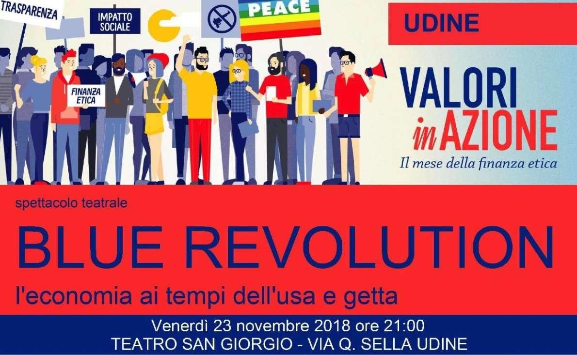 Spettacolo teatrale Blue Revolution a Udine